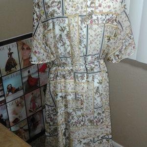 Angela Plus Dresses - NWOT Angela Plus Printed Wrap Dress SZ 3X